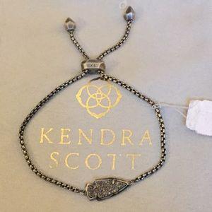 NWT Kendra Scott gunmetal grey & stone bracelet